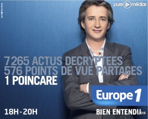 Illustration : Europe 1. 18h30 Nicolas Poincaré